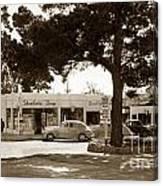 Stanifords Drug Store Ocean Ave.cor San Carlos Carmel Circa 1941 Canvas Print