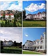 Stanley Hotel In Estes Park Colorado Collage Canvas Print