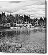 stanley park coal harbour and Vancouver rowing club marina BC Canada Canvas Print
