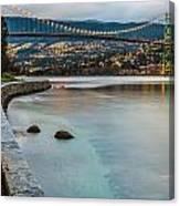 Stanley Park Seawall View Canvas Print