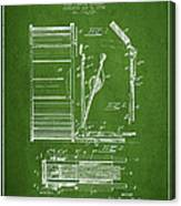 Stanton Bass Drum Patent Drawing From 1904 - Green Canvas Print