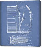 Stanton Bass Drum Patent Drawing From 1904 - Light Blue Canvas Print