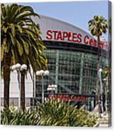 Staples Center In Los Angeles California Canvas Print
