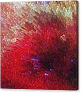 Star Burst - Red Abstract Art By Sharon Cummings Canvas Print