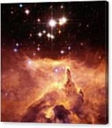 Star Cluster Pismis 24 Above Ngc 6357 Canvas Print