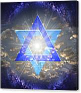 Star Of David And The Milky Way Canvas Print