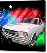 Star Of The Show - 66 Mustang Canvas Print