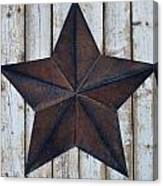 Star On Barn Wall Canvas Print