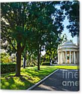 Star Over The Mausoleum - Henry And Arabella Huntington Overlooks The Gardens. Canvas Print