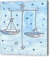 Star Sign Libra Canvas Print