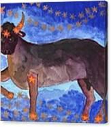 Star Sign Taurus Canvas Print