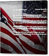 Star Spangled Banner  Canvas Print