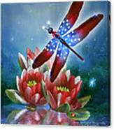 Star Spangled Dragonfly Canvas Print