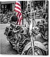 Star Spangled Harley Canvas Print