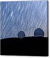 Star Trails Above Keck Canvas Print