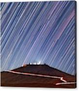 Star Trails Over Cerro Paranal Telescopes Canvas Print