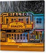 Star Trails Over The Rialto Canvas Print