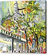 Starbucks Cafe In Budapest Canvas Print