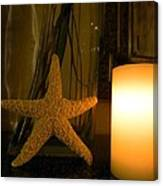 Starfish Candleglow Still Life Canvas Print
