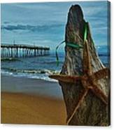 Starfish Driftwood And Pier 3 12/20 Canvas Print