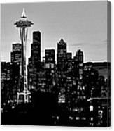 Stark Seattle Skyline Canvas Print