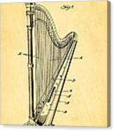 Starke Harp Patent Art 1931 Canvas Print