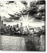 Starlight Over The American Airlines Arena Canvas Print