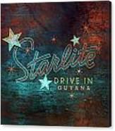 Starlite Drive In Canvas Print