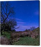 Starry Night Above Hadrians Wall Canvas Print