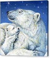 Starry Night Bears Canvas Print