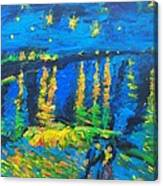 Starry Night Bridge Canvas Print