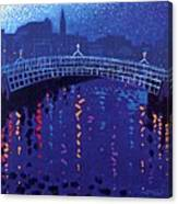 Starry Night In Dublin Canvas Print