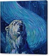 Starry Night Van Gogh Bear Canvas Print