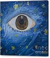 Starry Night With Eye  Canvas Print
