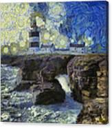 Starry Hook Head Lighthouse Canvas Print