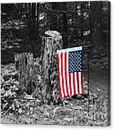 Stars And Stripes With Selective Color Canvas Print