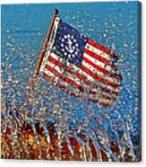Stars And Strips At Lake Tahoe Canvas Print
