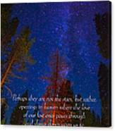 Stars Light Star Bright Fine Art Photography Prints And Inspirational Note Cards Canvas Print