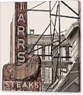 Stars Steaks Frys And Burgers Canvas Print