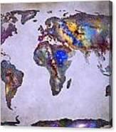 Stars World Map Space Canvas Print