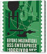 Starschips 34-poststamp - Uss Enterprise Canvas Print