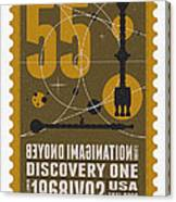Starschips 55-poststamp -discovery One Canvas Print