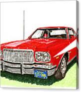 Starsky Hutch 1974 Ford Gran Torino Sport Canvas Print