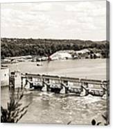 Starved Rock Lock And Dam Canvas Print