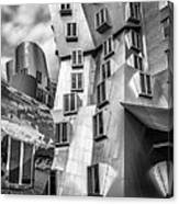 Stata Building 1 Bw Canvas Print