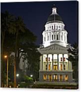 State Capitol At Night Sacramento Canvas Print