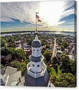 State House Beauty Over Annapolis Canvas Print