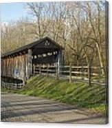 State Line Or Bebb Park Covered Bridge Canvas Print
