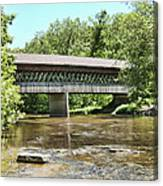 State Road Covered Bridge Canvas Print