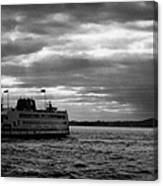 staten island ferry Andrew J Barberi heading towards staten island Canvas Print